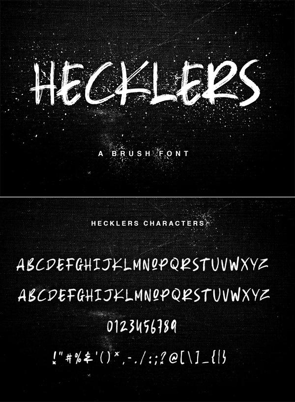 Hecklers Handbrush Font
