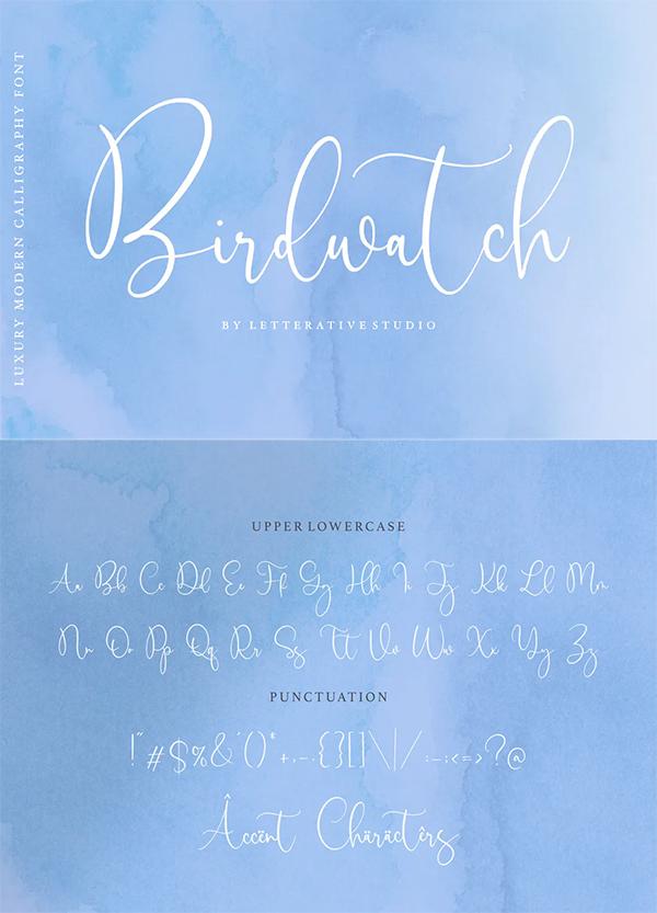 Birdwatch Script Font