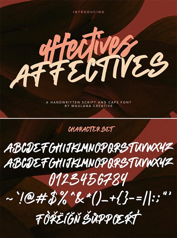 Affectives Handwritten Script Brush Font