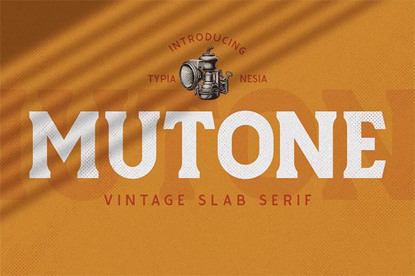 Mutone - Vintage Slab Serif Font