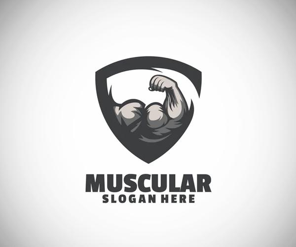 Muscular Logo Design