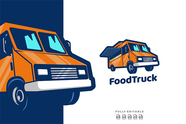 Food Truck Delivery Logo Design
