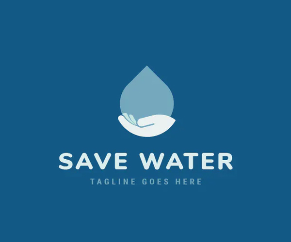 Save Water Logo Design