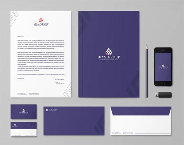Diamond Group Branding Identity & Stationery Template