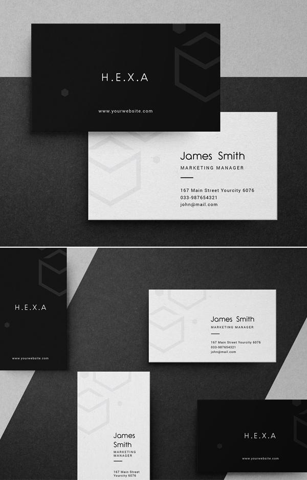 Elegant Hexa Business Card