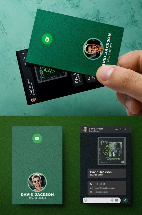 WhatsApp Business Card Design