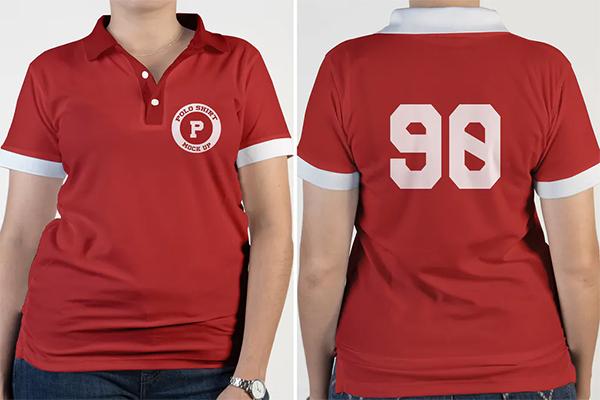 Polo Girls T shirt Mock Up
