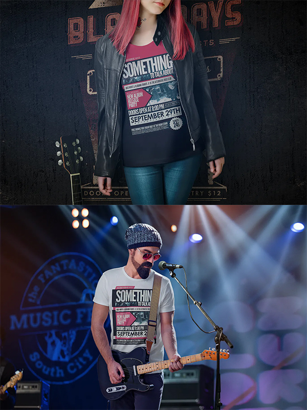 T-Shirt Mock-Up - Music Edition
