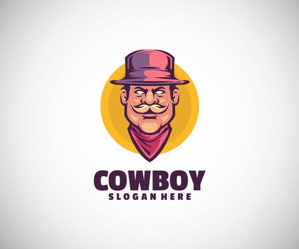 Cowboy Logo Template