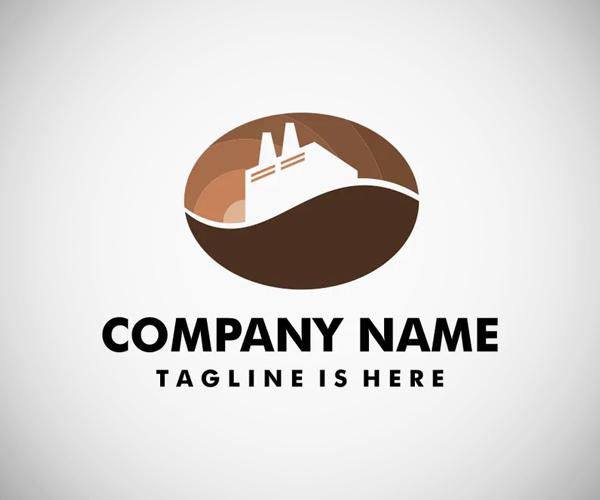 Coffee Factory Logo Template