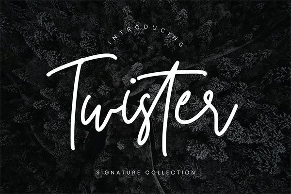 Twister Handwritten Script Font
