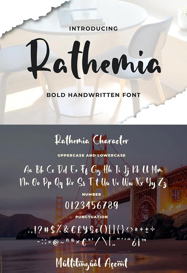 Rathemia - Bold Handwritten Font