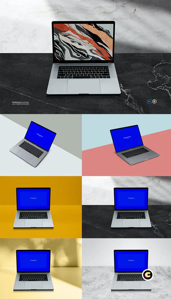 Macbook Laptop Display Web App Mock-Up