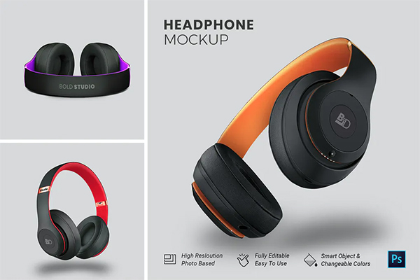 HeadPhone Mockup