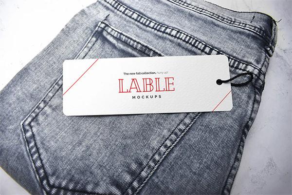 Clothing Label Tag Mockup