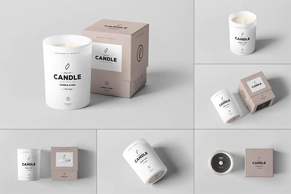 Candle & Box Mock-up