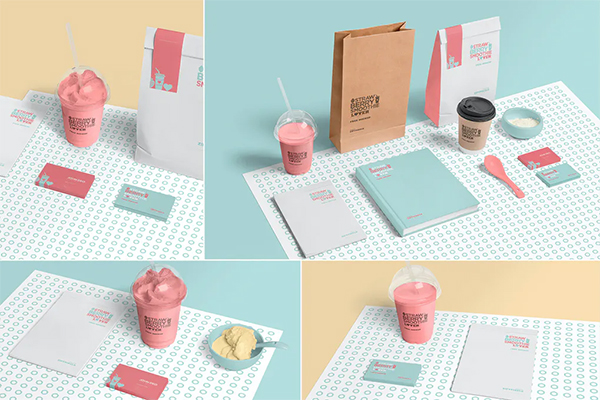 Transparent Plastic Ice Cream Cup Mockups