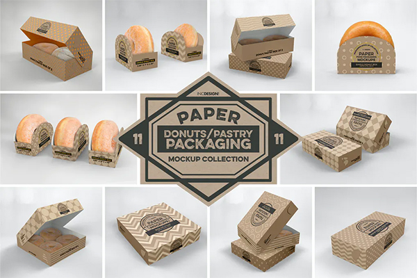 Paper Food Box Packaging Mockup