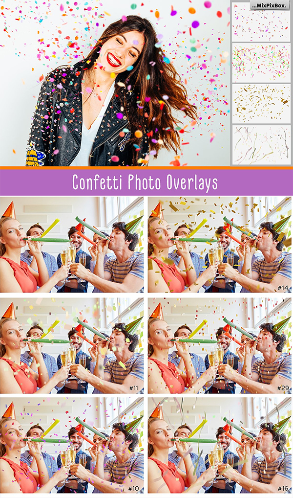 Confetti Overlays Photoshop Brushes