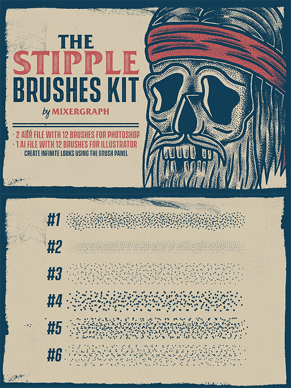 The Stipple Brushes Kit