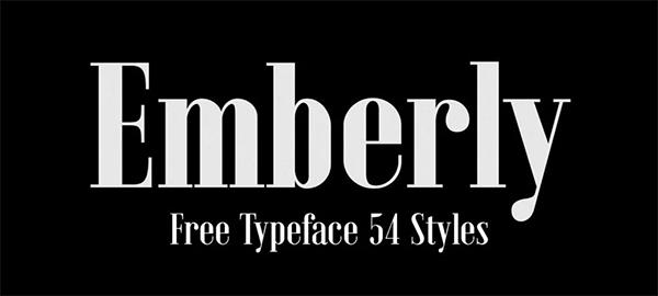 Emberly Free Font