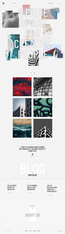 Rouben - Creative Portfolio / Photography WordPress Theme