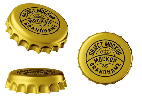Metal Bottle Cap Mockup