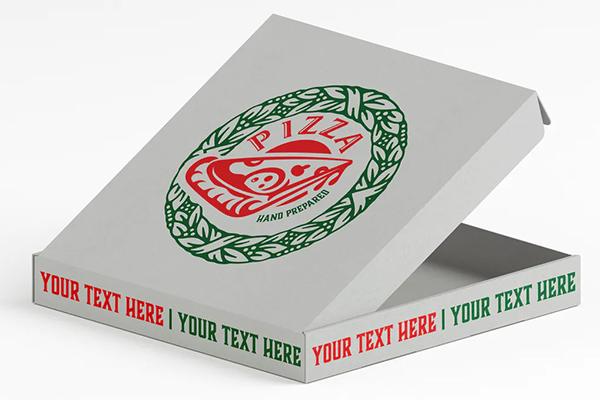 Pizza Box Mockup Colored