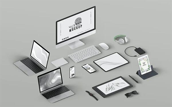 Isometric Scene Creator PSD Mockup