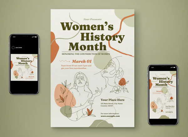 Woman History Month Flyer