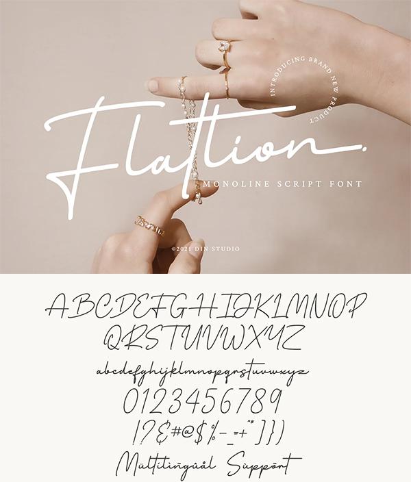 Flatlion Monoline Script Font
