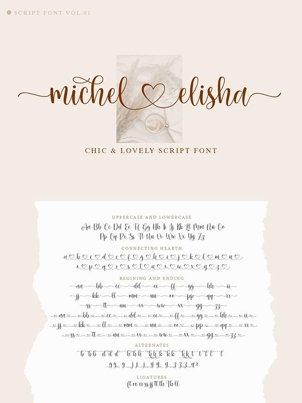 Michel Elisha Script Font