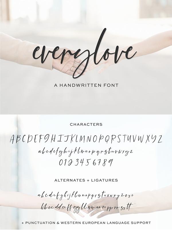 Everylove Script Font