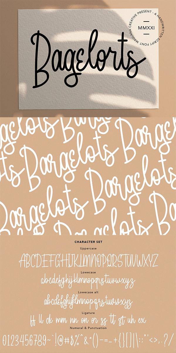 Bagelorts Handwritten Script Font