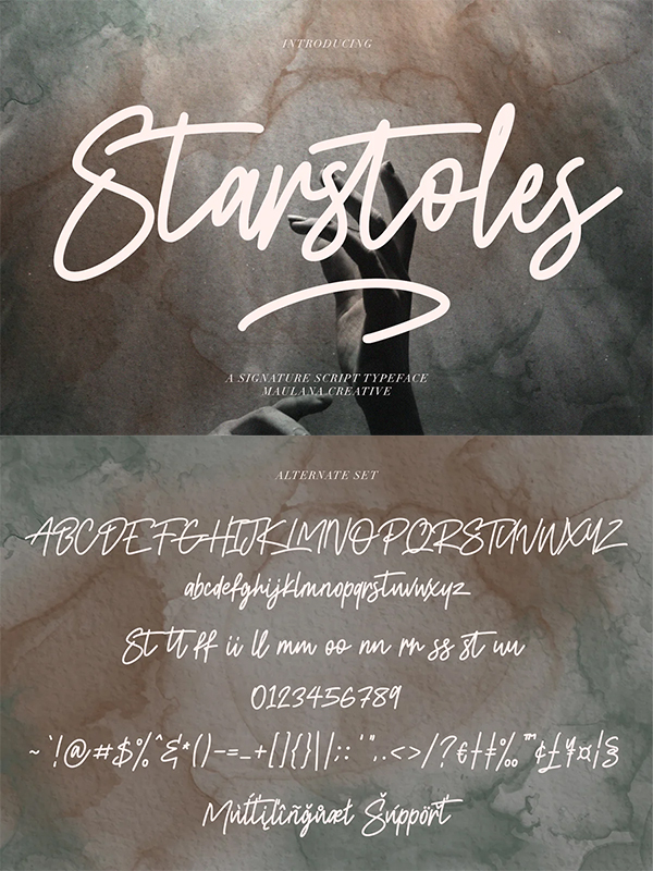Starstoles Signature Script Font