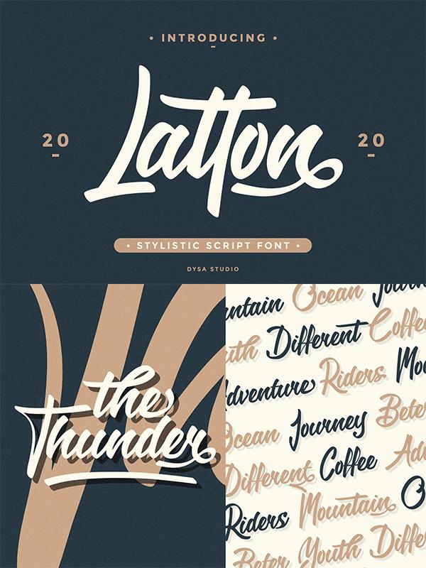 Latton - Stylistic Script Font
