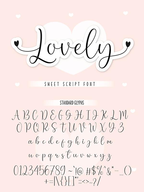 Lovely - Sweet Script Font