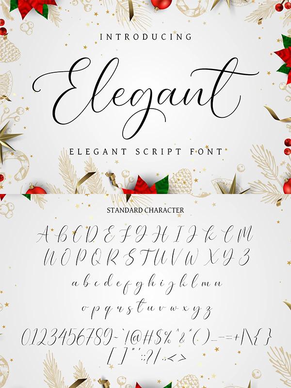 Elegant - Elegant Script Font