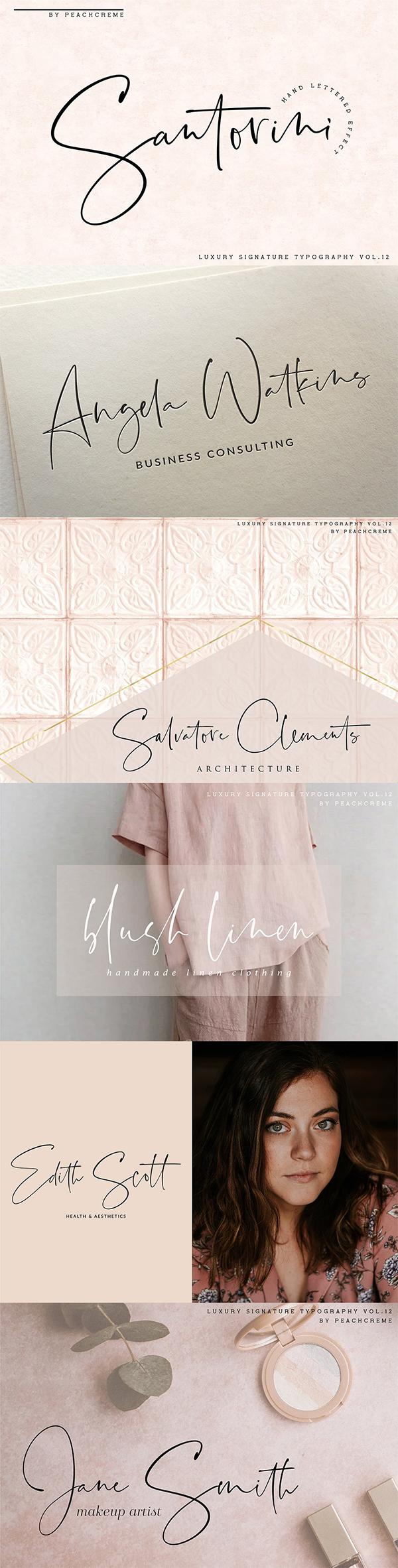 Santorini // Luxury Signature Font