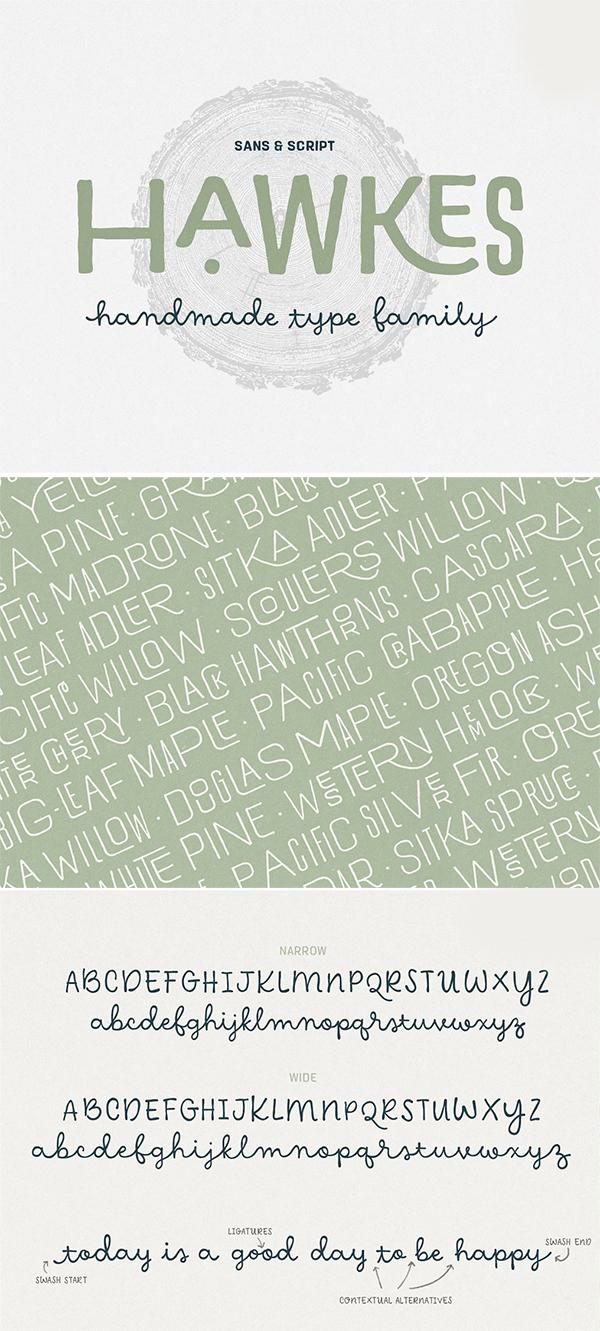 Hawkes Handmade Font