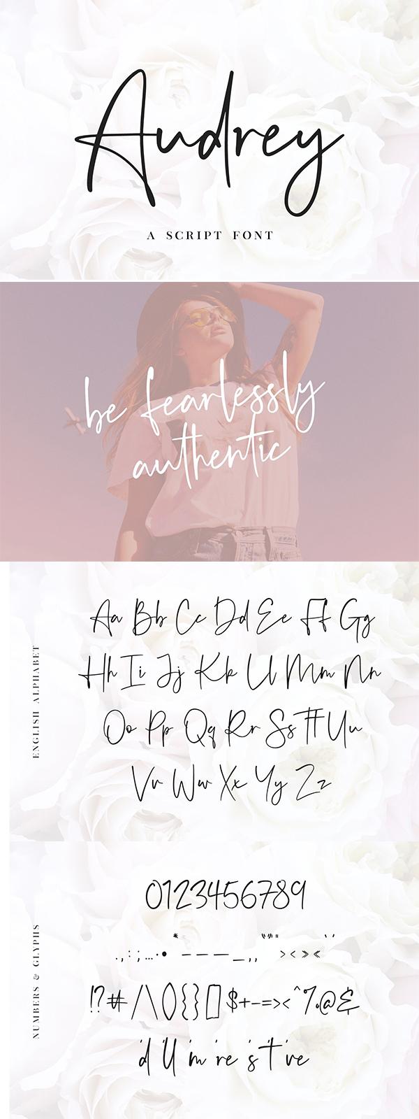 Audrey - A Script Font