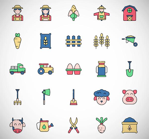 Free Creative Farmer Vector Icons (2021)