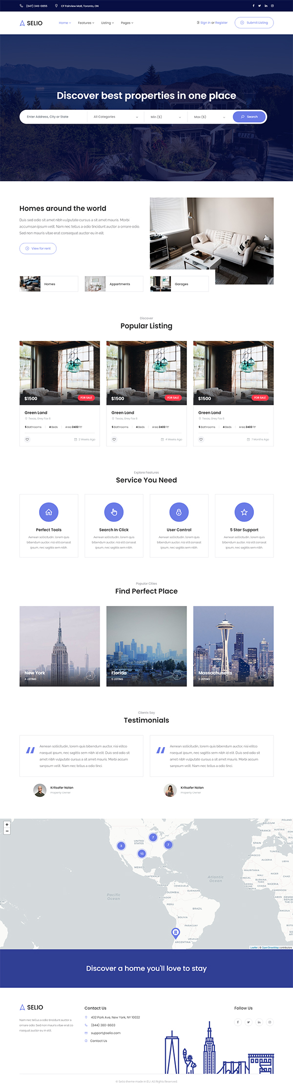 Selio - Real Estate Directory WordPress Theme