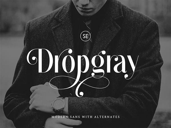 Dropgray Sans Serif Free Font