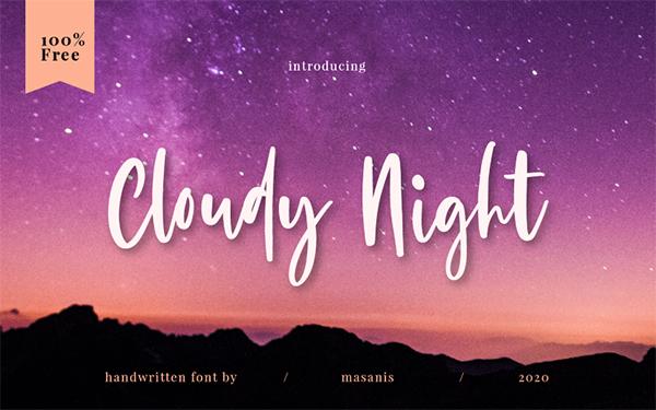 Cloudy Night Free Font