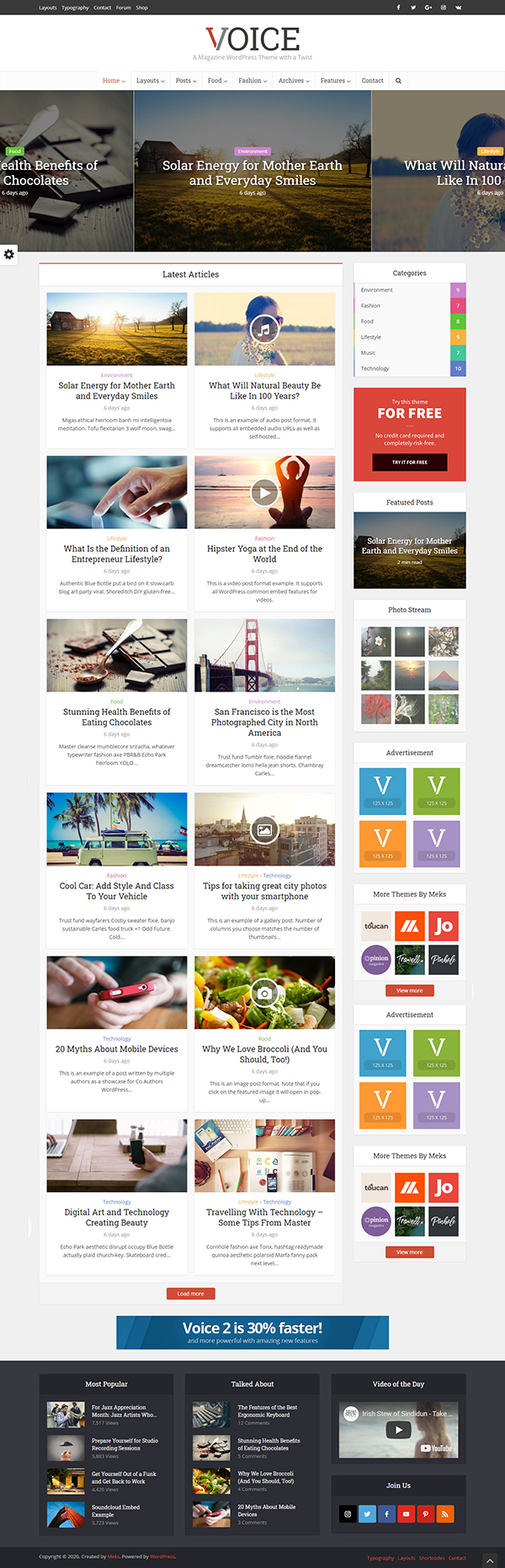 Voice - Clean News / Magazine WordPress Theme