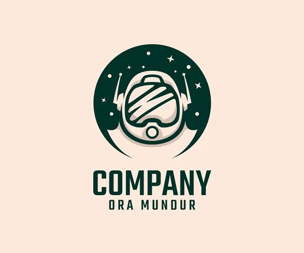 Astronaut Logo Design