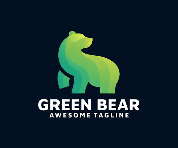 Green Bear Logo Design