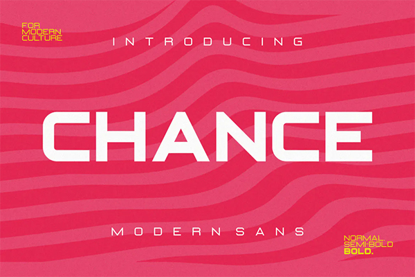 Chance Modern Sans Font