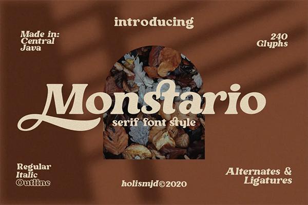 Monstario Serif Font